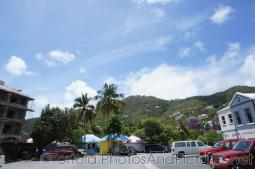Green hills and colorful shops in Tortola.jpg