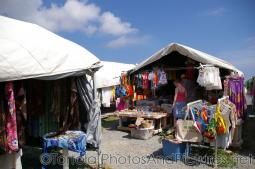 Merchant tents selling souvenirs at cruise port in Tortola.jpg